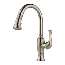Brizo - Brizo 63003LF-SS Talo Stainless Steel Kitchen Pulldown Faucet - The Brizo 63003LF-SS is a one handle kitchen pull-down faucet from Brizo's Talo design suite that creates a distinct style inspired by nature mixed with a myriad of cutting edge technology and comes in a Stainless Steel finish.