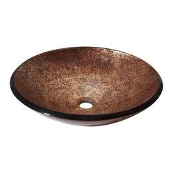 Avanity - Tempered Glass Vessel - Tempered Glass Vessel - Metallic Copper