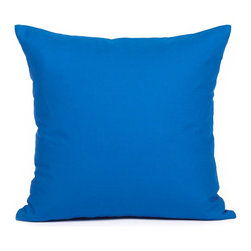 """Blooming Home Decor - Solid Dark Blue Accent / Throw Pillow Cover - (Available in 16""""x16"""", 18""""x18"""", 20""""x20"""", 24""""x24"""", 26""""x26"""", 12""""x18"""",12""""x20"""")"""