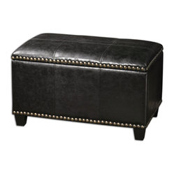 Beckham Small Black Storage Bench