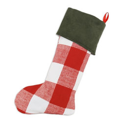 Chooty & Co. - Chooty & Co. Lipstick Forest Christmas Stocking Multicolor - TT192110F - Shop for Holiday Ornaments and Decor from Hayneedle.com! The kids may be grown but they still want their stocking filled with goodies. Upgrade the vessel of choice with this Chooty & Co. Lipstick Forest Christmas Stocking. Its large red and white check pattern with forest green fold-over top will get compliments but the generous size and gifts within are what they really want -- it's Christmas overindulging is part of the fun.About Chooty & Co.A lifelong dream of running a textile manufacturing business came to life in 2009 for Connie Garrett of Chooty & Co. This achievement was kicked off in September of '09 with the purchase of Blanket Barons well known for their imported soft as mink baby blankets and equally alluring adult coverlets. Chooty's busy manufacturing facility located in Council Bluffs Iowa utilizes a talented team to offer the blankets in many new fashion-forward patterns and solids. They've also added hundreds of Made in the USA textile products including accent pillows table linens shower curtains duvet sets window curtains and pet beds. Chooty & Co. operates on one simple principle: What is best for our customer is also best for our company.