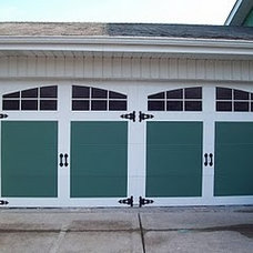Traditional  Painted Faux Carriage Garage Door