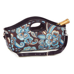 "Picnic Plus - Nola Wine Clutch , Cocoa Cosmos - Picnic Plus Nola Wine Bottle Clutch, Cocoa Cosmos. Color/Design: Cocoa Cosmos; Perfect accessory for toting a full size wine, or champagne bottle; With the fully zippered top closure; Insulated lining; Adjustable, detachable shoulder strap; Inside zippered pocket hold keys, ID, wine opener and more; Patent Pending. Dimensions: 14""W x 4""D x 8""8"