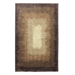 American Rug Craftsmen - Shaggy Vibes Central Park Brown Shag Shaded 10' x 14' American Rug Craftsmen - Our Shaggy Vibes Collection brings together incredible contemporary patterns and sumptuously soft, high pile shag. In trendy geometrics and abstracts, these rugs create a sense of leisure and relaxation. Manufactured entirely in the United States, American Rug Craftsmen