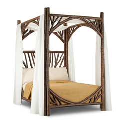 Rustic Canopy Bed #4280 by La Lune Collection -