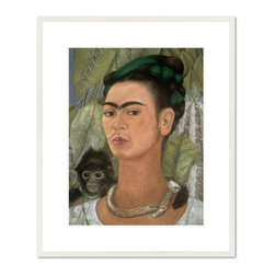 Self Portrait with Monkey, 1938 - Frida Kahlo, Self Portrait with Monkey, 1938. Albright-Knox Art Gallery.