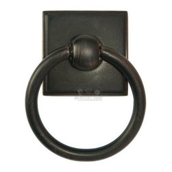 """Alno Creations Cabinet Hardware - Eclectic - 1 3/4"""" Ring Pull in Venetian Bronze -"""
