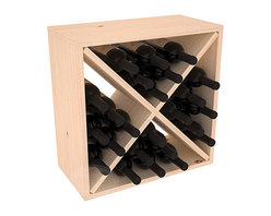 "Wine Racks America - 24 Bottle Wine Storage Cube in Ponderosa Pine, (Unstained) - A wine rack focused on flexibility; buy 1 or buy 100. Perfect for stacking, filling small spaces, and converting that ""underneath"" space into wine storage. Mix and match finishes to illustrate your true wine-lover's spirit or contrast colors for a modern wine rack twist."