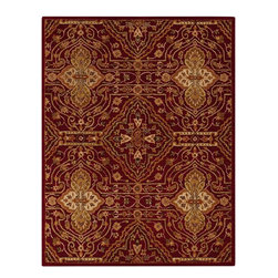 Surya - Contemporary Carrington 2'x3' Rectangle Red, Gold Area Rug - The Carrington area rug Collection offers an affordable assortment of Contemporary stylings. Carrington features a blend of natural Red, Gold color. Hand Tufted of 100% Wool the Carrington Collection is an intriguing compliment to any decor.