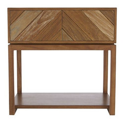 Chevron Nightstand - Chevron can be overdone, but this nightstand is the perfect example of the pattern done right. Plus, the natural wood tones are beautiful.