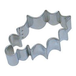 RM - Holly Leaf 3 In.  B1137X - Holly Leaf cookie cutter, made of sturdy tin, Size 3 in., Depth 7/8 in., Color silver