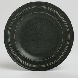 Tag Everyday - Paragon Salad Plate - Set of 4 - Black - Includes 4 salad plates. High quality, durable porcelain. Unique speckled, matte glaze in colors . Embossed concentric circles add modern touch to classic shapes. Dishwasher safe/may get hot in microwaveColor: Black. 8.5 in. dia