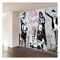 WallsNeedLove - The Literal Old School Wall Mural Decal - Home may be where the heart is, but art is where the soul lies. Bring heart and soul together with this unique, modern print. Featuring a classic graffiti and some really cool old people, this mural makes a dramatic statement in any room (and may temporarily confuse the crap out of your guests).