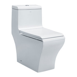 EAGO - EAGO TB356 White Dual Flush One Piece Eco-Friendly Ceramic Toilet - We are very excited to offer you this top of the line brand of eco-friendly low consumption modern and smart toilets. Join the latest fashion trend with EAGO's innovative line of green products.