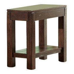 Riverside Furniture - Riverside Furniture Castlewood Chairside Table in Warm Tobacco - Riverside Furniture - End Tables - 33513 - Riverside's products are designed and constructed for use in the home and are generally not intended for rental commercial institutional or other applications not considered to be household usage.