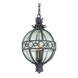 Troy Lighting - Troy Lighting F5009 Campanile 4 Light Outdoor Lantern Pendant - Troy Lighting F5009 Traditional / Classic Four Light Outdoor Hanging Lantern from the Campanile CollectionBeing a Leader in an Industry requires many attributes. Troy Lighting's passion for quality, design, value and service lead the way. Their Team of Lighting Professionals are serious about producing awesome lighting and having a strong, well-run company.  Hand-Forged Iron, Hand Applied Finishes, Glass and Shades that compliment the style are primary ingredients in Troy Lighting products. They take great pride in their engineering and inspection standards that  ensure a quality product. Troy Lighting is committed to providing quality high styled products, at reasonable prices, backed with the highest standard of service.Features:
