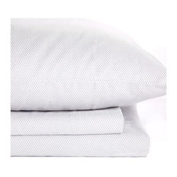 Oilo - Mosi Sheet Set, Pewter, Twin - Includes flat and fitted sheets, plus standard pillowcase