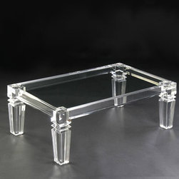 Clear Conscience Coffee Table - Modern and oh-so-cool, this is a gorgeous clear piece.