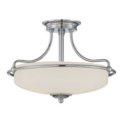 Quoizel Lighting - Quoizel GF1717C Griffin 3 Light Semi-Flush Mount, Polished Chrome - This 3 light Semi-Flush Mount from the Griffin collection by Quoizel will enhance your home with a perfect mix of form and function. The features include a Polished Chrome finish applied by experts. This item qualifies for free shipping!