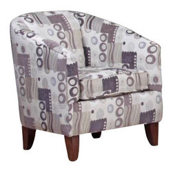 Chelsea Home Furniture - Chelsea Home Lois Barrel Chair in Mystic Beige - Lois Barrel chair in Mystic Beige belongs to Verona II collection by Chelsea Home Furniture