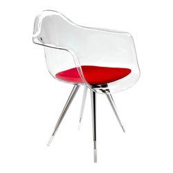Kubikoff - Angel Armchair, Clear, Cherry - Angel Armchair