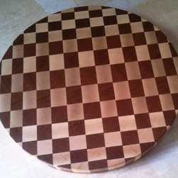 "End Grain Dizzy Circle / Cutting Board - End Grain Dizzy Circle / Maple - Mahogany 11"" x 1"" $75 + Shipping"