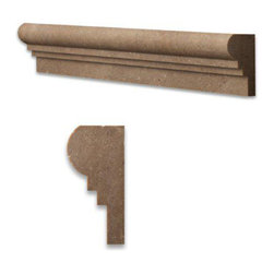 Noce Noche Honed Travertine Chair Rail Decorative Molding Bull Nose Trim - Single Ogee 2 in. x 12 in. Noce Noche Honed Travertine Chair Rail Decorative Molding Bull Nose Trim is a great way to enhance your decor with a traditional aesthetic touch. This decorative molding is constructed from durable, impervious travertine material, comes in a smooth, unglazed finish and is suitable for installation on kitchen backsplash, finish wall tile, molding, shower wall, ceramic tile in commercial and residential spaces.