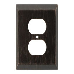 Liberty Hardware - Liberty Hardware 126406 Stately WP Collection 3.15 Inch Switch Plate - Venetian - The Stately design adds elegance and sophistication to every room with its simple lines. The Venetian Bronze finish brings distinguished style and grace to any room. Fasteners are included and sized to fit standard electrical boxes. This family is available in the 10 most popular wall plate configurations.. Width - 3.15 Inch,Height - 4.9 Inch,Projection - 0.3 Inch,Finish - Venetian Bronze,Weight - 0.3 Lbs