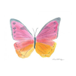 Butterfly Watercolor Art - Butterfly Watercolor Original Painting by Laura Trevey