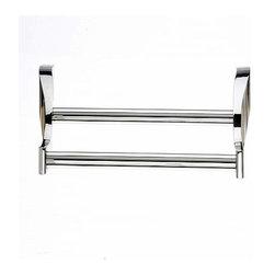 Top Knobs - Top Knobs: Aqua Bath 30 Inch Double Towel Rod - Polished Nickel - Top Knobs: Aqua Bath 30 Inch Double Towel Rod - Polished Nickel