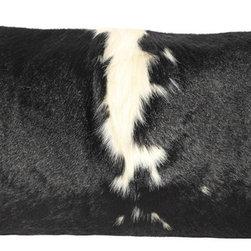 Cowhide Lumbar Pillow - Black & White Brazilian Hide - ML McManus
