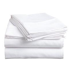 DBC Luxury Bed Linen - 1500 Thread Count 4 Piece Sheet Set, White, King Size, Solid - 4 Piece King Size Sheet Set