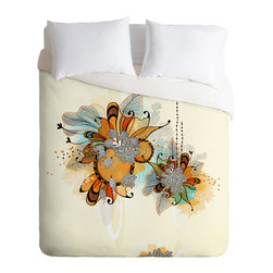 DENY Designs - Iveta Abolina Sunset 2 Duvet Cover - Turn your basic, boring down comforter into the super stylish focal point of your bedroom. Our Luxe Duvet is made from a heavy-weight luxurious woven polyester with a 50% cotton/50% polyester cream bottom. It also includes a hidden zipper with interior corner ties to secure your comforter. it's comfy, fade-resistant, and custom printed for each and every customer.