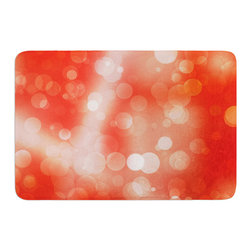 "KESS InHouse - KESS Original ""Passion Fruit"" Orange Bokeh Memory Foam Bath Mat (24"" x 36"") - These super absorbent bath mats will add comfort and style to your bathroom. These memory foam mats will feel like you are in a spa every time you step out of the shower. Available in two sizes, 17"" x 24"" and 24"" x 36"", with a .5"" thickness and non skid backing, these will fit every style of bathroom. Add comfort like never before in front of your vanity, sink, bathtub, shower or even laundry room. Machine wash cold, gentle cycle, tumble dry low or lay flat to dry. Printed on single side."