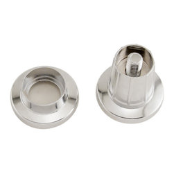 Adjustable Shower Curtain Rod Flanges - Chrome - Easily install shower rods that are too short with these Adjustable Shower Rod Flanges. Great to use where you don't want to use mounting screws, or when a shower curtain rod is cut to fit a small space, including RVs.