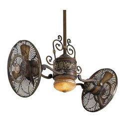 """Minka Aire - Traditional Gyro 42"""" Ceiling Fan - A magnificent rendition of the original Gyro design, the traditional finishes transcend the turns of time."""
