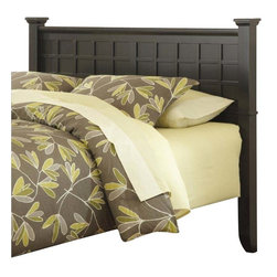 Home Styles - Home Styles Arts and Crafts Queen Headboard in Black - Home Styles - Headboards - 5181501 - Mission Styling at its best! The Arts and Crafts Queen Headboard embellishes typical mission styling with raised wood, lattice moldings and slightly flared legs. Finished in a Black finish over hardwood solids and engineered wood, this headboard's simplistic yet detailed design make it an ideal piece for any bedroom setting.