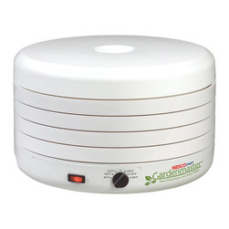 Nesco - Nesco American Harvest Gardenmaster FD-1010 White 1000-watt Foods Dehydrator - Enjoy your favorite dried foods fast with this sustainable food dehydrator from Nesco. Featuring an adjustable thermostat for accuracy,this versatile dehydrator is made with patented Converga-Flow� technology for even drying in hours.
