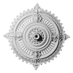 Ekena 29-1/8 in. Haylynn Ceiling Medallion-CM29HY at The Home Depot -