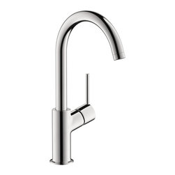 Hansgrohe - Hansgrohe 32082001 Talis S Single Hole Faucet in Chrome - Single Hole Faucet in Chrome belongs to Talis Collection by Hansgrohe The Hansgrohe Talis S Single Hole 1-Handle Mid-Arc Bathroom Faucet in Chrome delivers a sleek look in chrome to provide your bath or powder room with an easy-to-use fixture, thanks to its single-handle design. The mid-arc spout helps afford optimal clearance for ease of use. A ceramic disc cartridge helps provide drip-free usage for added convenience.  Faucet (1)