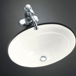 KOHLER - KOHLER K-2824-0 Serif Undercounter Bathroom Sink - KOHLER K-2824-0 Serif Undercounter Bathroom Sink in White