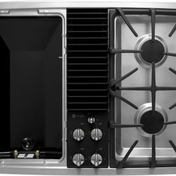 """GE Profile - PGP990SENSS Profile 30"""" Downdraft Gas Modular Cooktop  2 Sealed Burners  Recesse - GE Consumer and Industrial spans the globe as an industry leader in major appliance lighting and integrated industrial equipment systems and services They provide solutions for commercial industrial and residential use in more than 100 countries whic..."""
