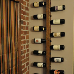 16 Bottle Tuscan Wine Rack - This 16 Bottle Wine rack is beautiful and efficient, used here to accentuate a normally underutilized space