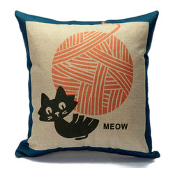 Magnifi-Cat-Essence Pillow Cover, Kitten - These cushions covers are ''Purr-fect'' for poeple who whant to add a bit more ''Cat-titude'' in any room. They are design, funny and adorable! Chose your style and be ready to love them ''Furr-Ever''