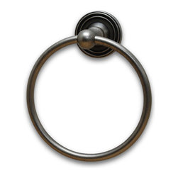 Residential Essentials - Aged Pewter Bradford Towel Ring(RE2286AP) - Aged Pewter Bradford Towel Ring