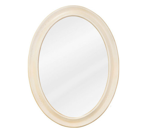 """Elements - Elements MIR061 Clairemont Collection Oval 23-3/4 x 31-1/2 Inch Bathroom Vanity - Clairemont Collection 23-3/4 x 31-1/2 Inch Bathroom Vanity MirrorThis fashionable portrait hung Elements Bathroom Vanity Mirror with its oval  design is a perfect complement to any bathroom or vanity. From the Clairemont Collection, this 23-3/4"""" x 31-1/2"""" buttercream oval mirror with beveled glass projects the same quality and class as the person looking into it.Vanity Mirror: Designed to accompany the Elements vanity (VAN061,VAN061-48,orVAN061D-60), this mirror looks great as either part of a vanity set, or as a standalone accessory. Features:"""