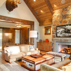 Rustic Living Room by McKinney Group, Inc