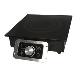 SPT Appliance - 2700W Built-In Commercial Range - SmartScan� technology: voltage, pan size and type recognition. 5mm thick tempered glass cooktop. Choice of power or temperature mode . Power mode: 1-20 levels (250-2700W). Temperature mode: 90-440�F (in 20�F increments, except 170-180/260-270/350-360�F). Large LED power/temp display. Displays in �F or �C. Simple knob-set thermostat control. Touch-sensitive control box with stainless steel frame . Power ON/OFF touch pad with indicator light. Cook & Temp mode indicator lights. Over or under voltage protection. CETL / ETL-Sanitation to NSF-4. Built-in range with installation-ready modular flanged base. Separate control panel with 40 in. cable for easy front mounting. 100% silicon rubber protective top seal. 5.9' power cord lengthCustomize your food service facility and revolutionize your food preparation with the most advanced commercial induction equipment available. Ideal for demonstration cooking, suite service, catering and buffets. Features SmartScanT enhancement and COOK and TEMP modes. Separate control for remote mounting. Restaurants use only.