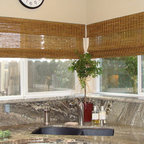natural shades and woven woods -