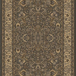 """Orian - Orian American Heirloom Patterson (Charcoal) 5'3"""" x 7'6"""" Rug - American Heirloom Collection, Orian Rugs' flagship collection is inspired by classic, hand-woven oriental rugs that combine understated elegance with classic style. The 1.5 million point design construction is densely woven with Orian's finest-denier yarns creating unparalleled visual dimension and pin point design clarity."""